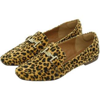 Sapato Feminino Mocassim Donatella Shoes Bico Quadrado Confort