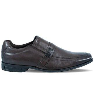 Sapato Ferracini Masculino Loafer Plus de Couro Marrom