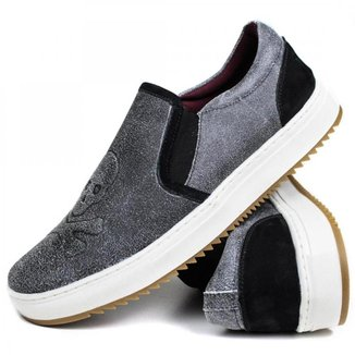 Sapato Iate Casual Masculino Cautex Confort Couro Caveira