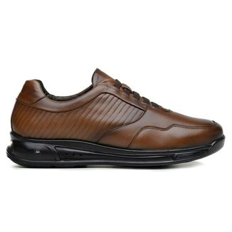 Sapato Jota Pe Marrom 3d Air Couro 78005