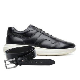 Sapato Jota Pe Preto 3d Air Evq + Cinto 80150