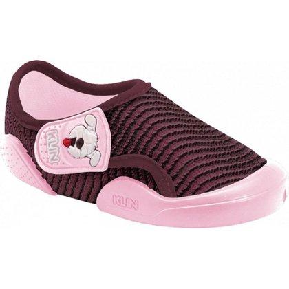 Sapato Klin Infantil New Confort Vinho/Rosa