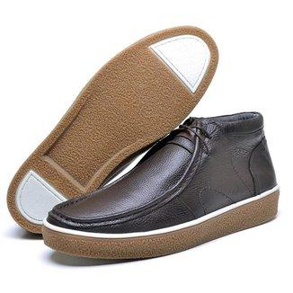 Sapato Masculino Cacareco em Couro Palmilha Espumada Liso