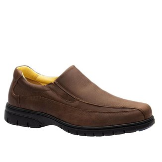 Sapato Masculino em Couro Graxo Café 1797  Doctor Shoes