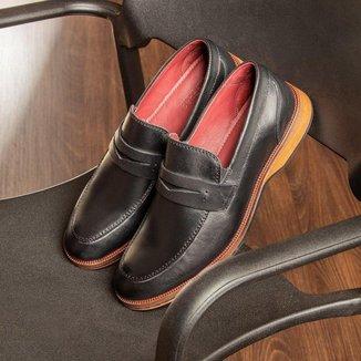 Sapato Masculino Loafer Sola De Couro com Borracha Absolut