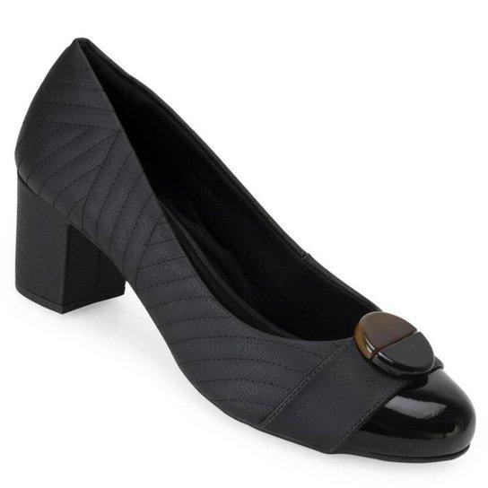 Sapato Matelassê Sense Flex AN20-0947 - Preto