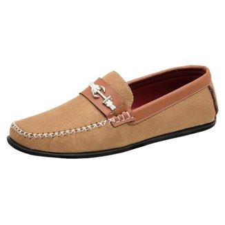 Sapato Mocassim Casual Masculino Camurça âncora