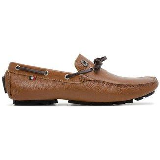 Sapato Mocassim em Couro com Cadarço Masculino Vitara