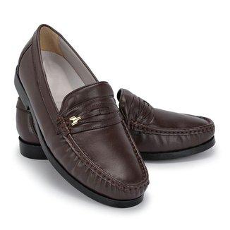 Sapato Mocassim Masculino em Couro Schiareli 1018 Macio Leve e Confortável