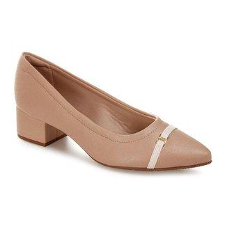 Sapato Modare Linho Metal  39 Feminino