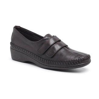 Sapato Ortopédico Feminino Couro Macio Confortável Dia a Dia
