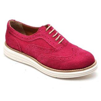 Sapato Oxford Camurça Letícia Alves 300 Feminino