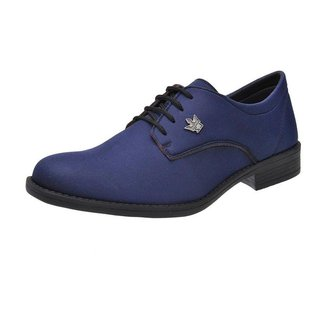 Sapato Oxford Masculino Casual Em Lona Com Cadarco Super Leve Azul