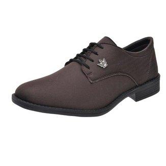 Sapato Oxford Masculino Casual Em Lona Com Cadarco Super Leve Cafe