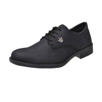 Sapato Oxford Masculino Casual Em Lona Com Cadarco Super Leve Preto