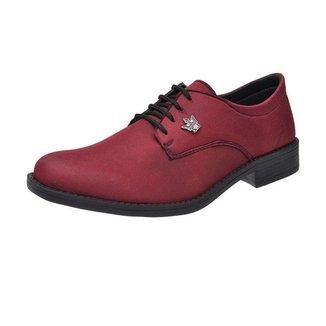 Sapato Oxford Masculino Casual Em Lona Com Cadarco Super Leve Vinho
