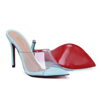 Sapato Sandalia Sapatilha Tamanco Salto Alto Feminino Acrílico