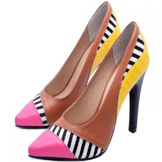 Sapato Scarpin Torricella Salto Fino Caramelo Pink
