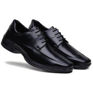 Sapato Social Bertelli Masculino Bico Quadrado Confortável