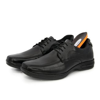 Sapato Social Couro BR2 Footwear Confort Gel  Masculino