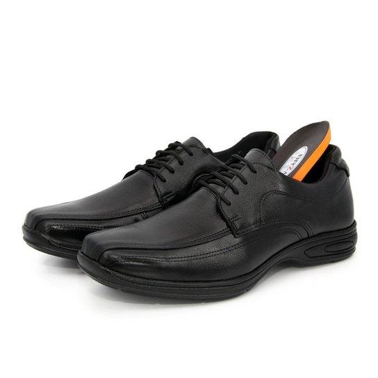 Sapato Social Couro BR2 Footwear Confort Gel  Masculino - Preto