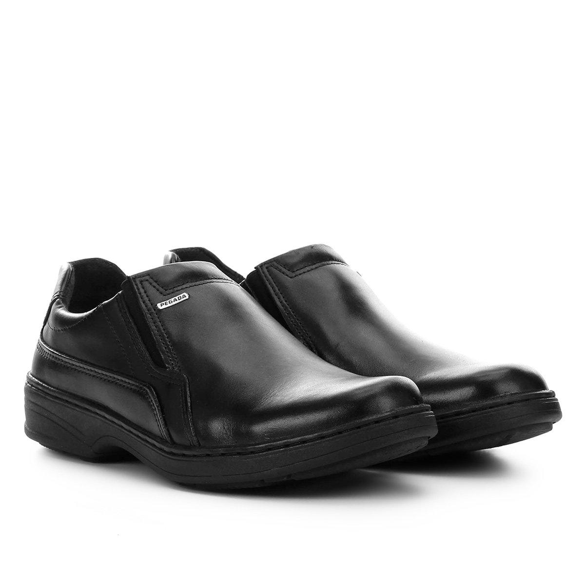 528140a2401 Sapato Social Couro Pegada Bico Redondo - Compre Agora