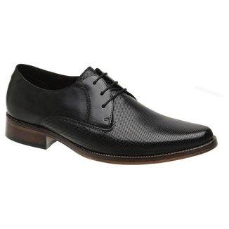 Sapato Social Couro Preto Estampa 54214 P