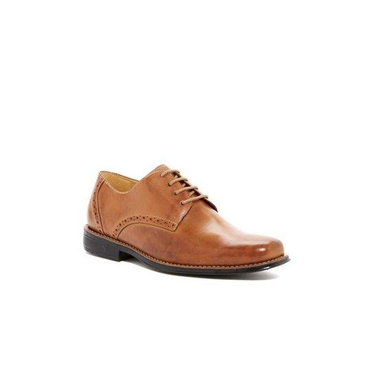Sapato Social Derby Polo State - Marrom Claro