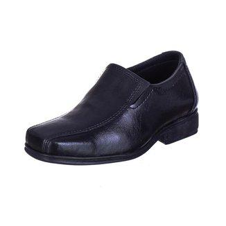 Sapato Social Infantil Menino Bico Quadrado Ajuste Elastico