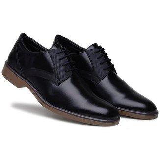 Sapato Social Masculino Bico Redondo Cadarço Confortável