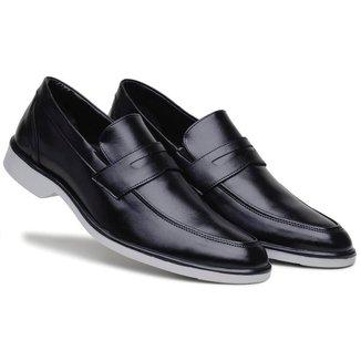 Sapato Social Masculino Elástico Bico Redondo Confortável