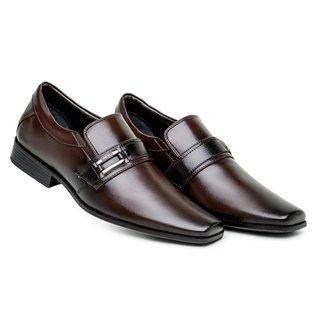 Sapato Social  Masculino Liso Fivela Confortável