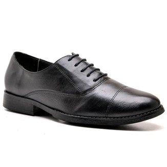Sapato Social Militar Masculino Go Well Shoes Preto