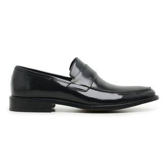 Sapato Social Preto Couro 60459
