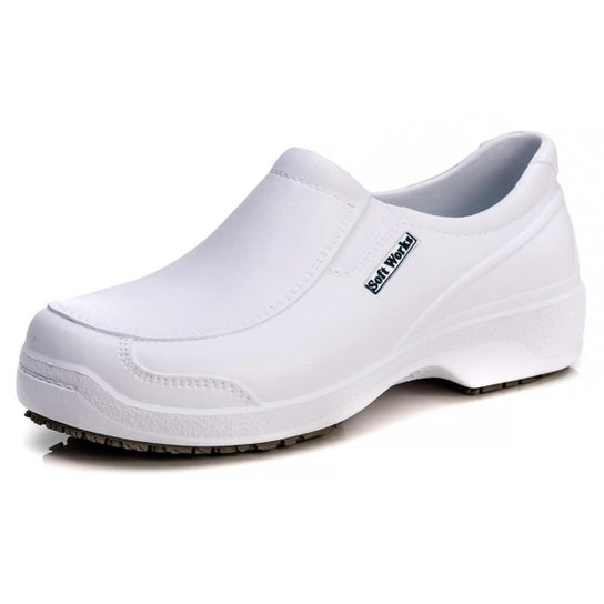 Sapato Soft Works Antiderrapante Com CA - BB67 - Branco