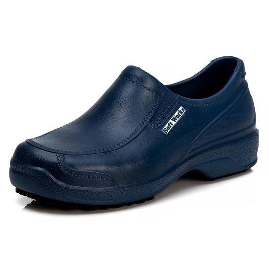 Sapato Soft Works Antiderrapante Com CA - BB67 - Azul Escuro