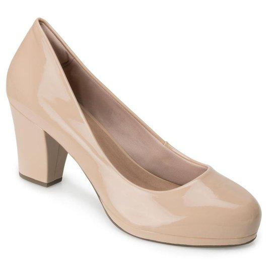 Sapato Verniz Sense Flex AN20-0718 - Nude