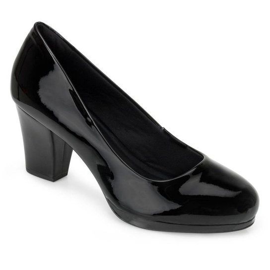 Sapato Verniz Sense Flex AN20-0718 - Preto