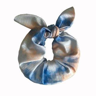 Scrunchie  De Cabelo Color Trend - TieDye Azul