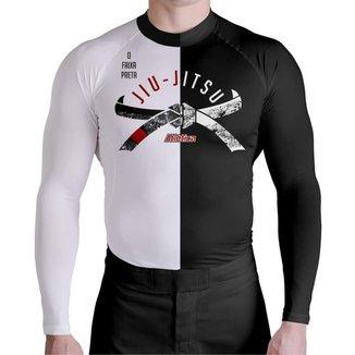Segunda Pele Moto JiuJitsu Black or White Atlética Esportes