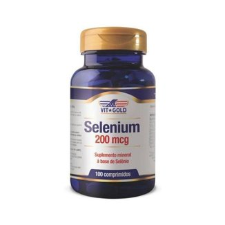 Selênio 200mcg - 100 Comprimidos - VitGold