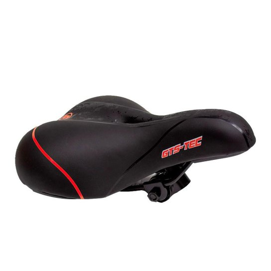 Selim Bike MTB Confortável GTS Tec - Vermelho - Sortido
