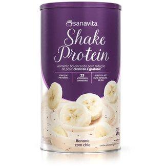 Shake Protein - Banana com chia - Lata 450g