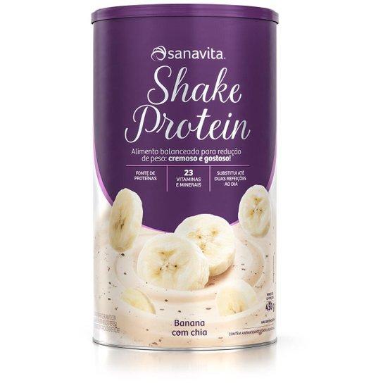 Shake Protein - Banana com chia - Lata 450g -