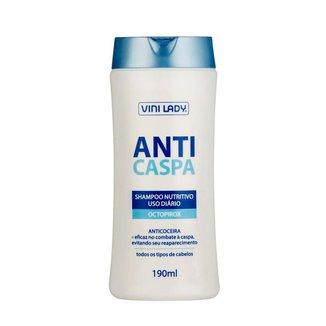 Shampoo Anticaspa Nutritivo 190ml Vini Lady