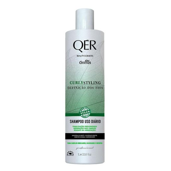 Shampoo Griffus Qér Beauty Cosmetics Curly Styling 1L - Incolor