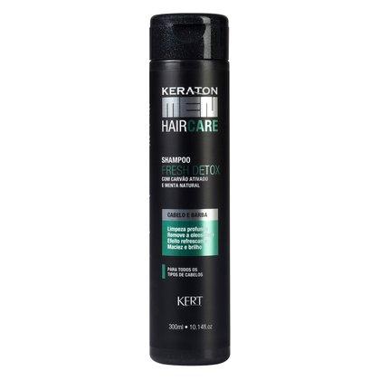 Shampoo Keraton Men Fresh Detox - Carvão e Menta 300ml