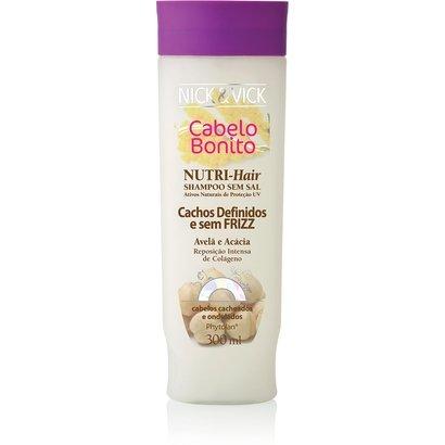 Shampoo Nick & Vick Nutri-Hair Cachos Definidos Avelã e Acácia 300ml