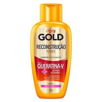 Shampoo Niely Gold Reconstrução Potente Reconstrutor 275ml