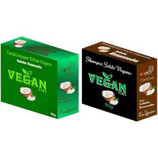 Shampoo Sólido Coco + Condicionador Solido Coco Vegan Line